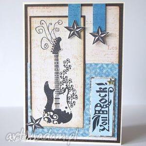 dla niego - kartki, męskie, męska, kartka, urodzinowa, gitara