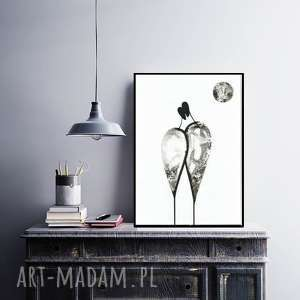 abstrakcja wykonana ręcznie, plakat, nowoczesne obrazy, elegancki minimalizm, obraz