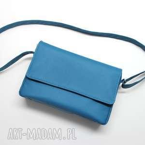 handmade prezent świąteczny listonoszka z klapką - niebieska