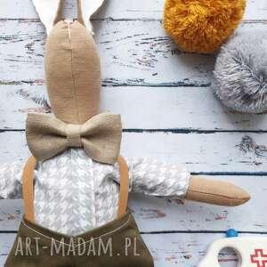 peppofactory pan królik z wyszytym imieniem, prezent, pod, choinkę, naturalna