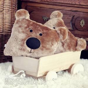 pokoik dziecka miś futerkowa poduszka, miś, przytulanka, wózek