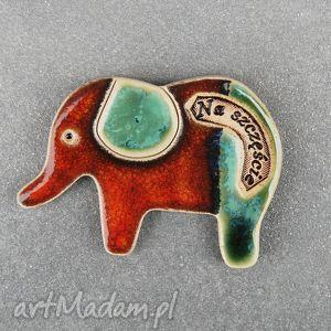 słonik magnes ceramiczny , słoń, dom
