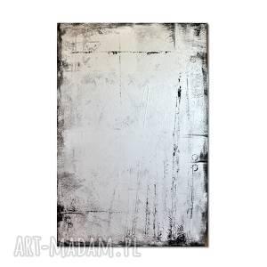 Tabula rasa, abstrakcja, nowoczesny obraz ręcznie malowany,