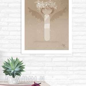 dekoracje grafika totem anioł a3, anioł, lalka, totem, grafika, plakat