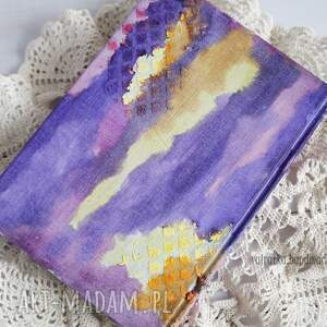 Mediowy kalendarz w fioletach - handmade