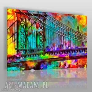 obraz na płótnie - most kolory 120x80 cm 39701, most, spacer, miasto, romantyczny