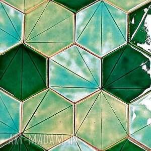 ceramiczne kafelki zielony eden, ręcznie robione, ścienne