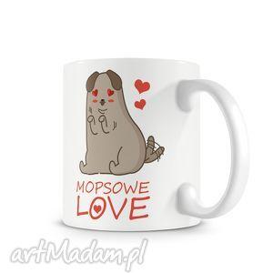 Prezent KUBEK - mopsowelove, kubek, kawa, prezent, mops, pies