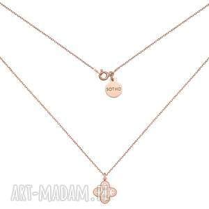 naszyjnik z różowego złota z ażurową - łańcuszek