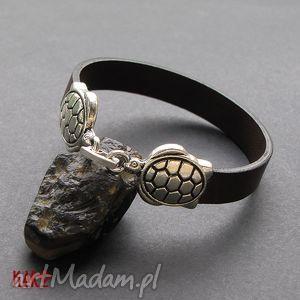 bransoletki bransoletka skórzana - żółwie, bransoletka, skóra, rzemień, zegarek