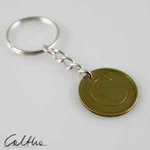 Żeton C - breloczek do kluczy, brelok, breloczek, recykling, żeton, zawieszka, moneta