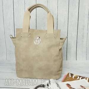 Prezent MANZANA torebka worek miejski styl CAPPUCCINO, torebka, damska, torba,
