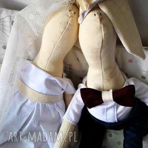 Prezent na ślub boho, wesele, prezent, szmaciane, lalki, rustykalny