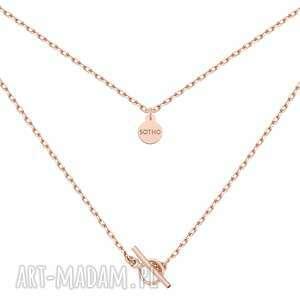 autorskie naszyjniki masywny łańcuszek z ozdobnym zapięciem z różowego złota