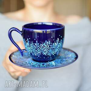 ceramika filiżanka ceramiczna błękitny kobalt 270 ml, filiżanka