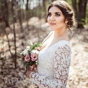 suknia ślubna w stylu boho, nowa model pokazowy z salonu - wyprzedaż rozmiar 40