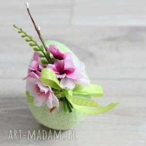 dekoracje pistacjowa pisanka, jajko, wielkanoc, romantyczna, oryginalny