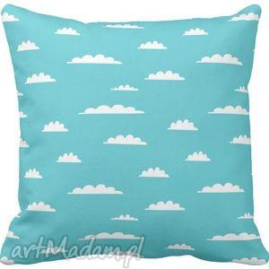Poszewka na poduszkę dziecięca chmurki niebie niebieska 3039