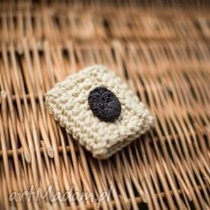 lawa - obrączka na serwetki, obrączki, szydełko, bawełna, prezent, handmade, święta
