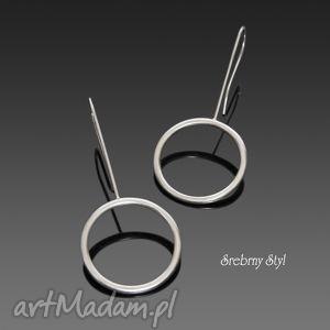 po prostu koła - srebrne kolczyki, minimalistyczne, nowoczesne, srebro