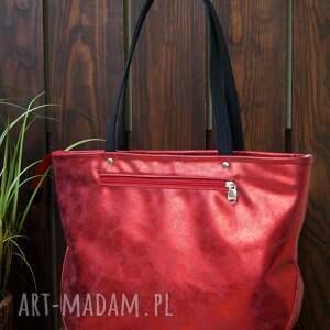 metaliczna torba na ramię, torba, wegańska, błyszcząca, elegancka