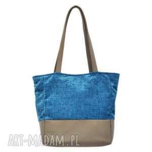 torebki 32-0003 średniej wielkości torebka niebieska na co dzień linnet, markowe