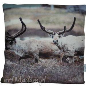 ręcznie zrobione na święta prezent poduszka dekoracyjna reindeer