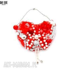 RED HOT naszyjnik handmade, naszyjnik, czerwony, czerwień