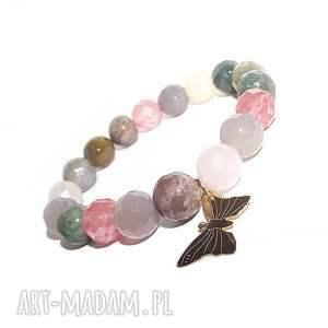 oryginalny prezent, motyl w agacie, motyl, charms, agat, kamienie, elegancka, modna