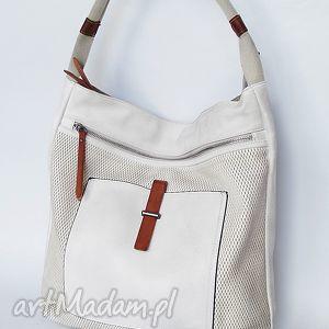 Kremowa torba na ramię, torba, torebka