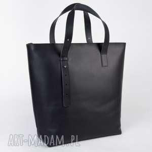 ręcznie zrobione do ręki stylowy shopper bag zapinany na zamek