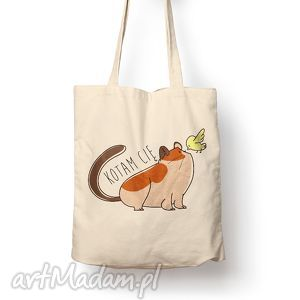 Prezent Torba - kotam cię, torba, bawełna, eco, kot, prezent