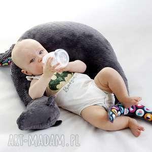 foka rebeka szara poduszka karmienia nie tylko - foka, poduszka, rogal, dekoracyjna
