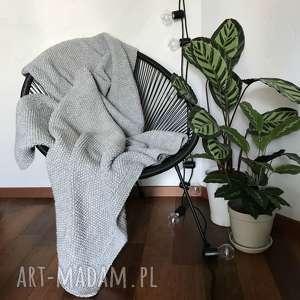 wełniany koc pled 130x160 handmade, koc, pled, wełna, blanket, rękodzieło