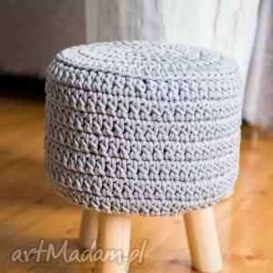 pufy stołek puf scandi ze sznurka bawełnianego, puf, stołek, stołeczek, skandynawski