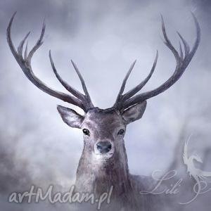 obraz jeleń - skandynawski płótno