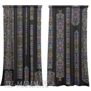 dekoracje zasłony artystyczne welurowe mosaic 2 szt, zasłony, welurowe, okna