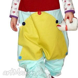 spodnie dziecięce pumpy, spodnie, szarawary, unisex, chłopiec, dziewczynka