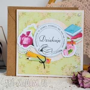 handmade kartki kartka - dziękuję szkoła (2 )