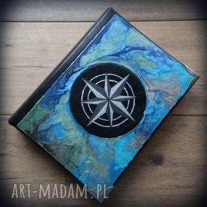 handmade notesy album na zdjęcia z ręcznie malowaną okładką róża