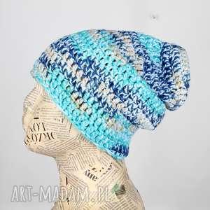 ręcznie robione czapki ciepła czapka unisex beanie kolorowa 005