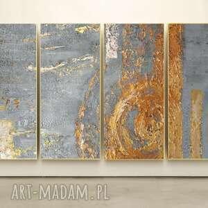 golden rose - wielkoformatowy obraz na płótnie abstrakcyjny art, obraz