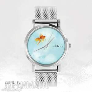 zegarki zegarek, bransoletka - złota rybka metalowy, bransoletka, metalowa