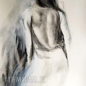 wyjątkowe prezenty, woman 100x70, obraz do salonu, duże obrazy, grafika postać