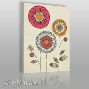 obraz na płótnie - abstrakcja kwiaty - 50x70 cm 12401 - kwiaty, abstrakcja