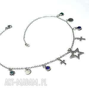 ręczne wykonanie naszyjniki choker- alloys collection - line blue star