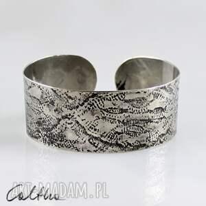 handmade koronka - metalowa bransoleta 130301 -08