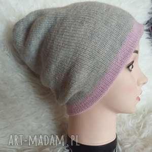 czapka zimowa, czapka, czapa, druty, smerfetka, alpaka, zima