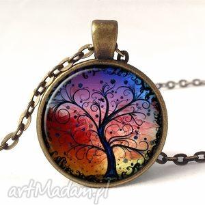 kolorowe drzewo - medalion z łańcuszkiem, nadziei, prezent, sztuka