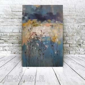 JESIENNA ŁĄKA -obraz akrylowy formatu 40/60 cm, łąka, obraz, abstrakcja, akryl